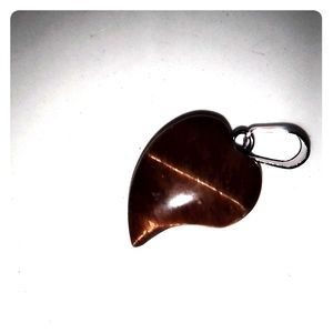 Small Hand Carved Tigers Eye Pendant